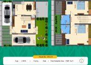 Floor Plan 2 BHK East facing of RR Dhurya Villas