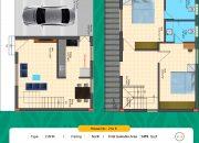 Floor Plan 2 BHK North facing of RR Dhurya Villas