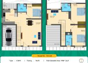 Floor Plan 3 BHK North facing of RR Dhurya Villas