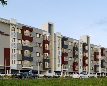 luxury apartments in saravanampatti RR Swara Side Elevation