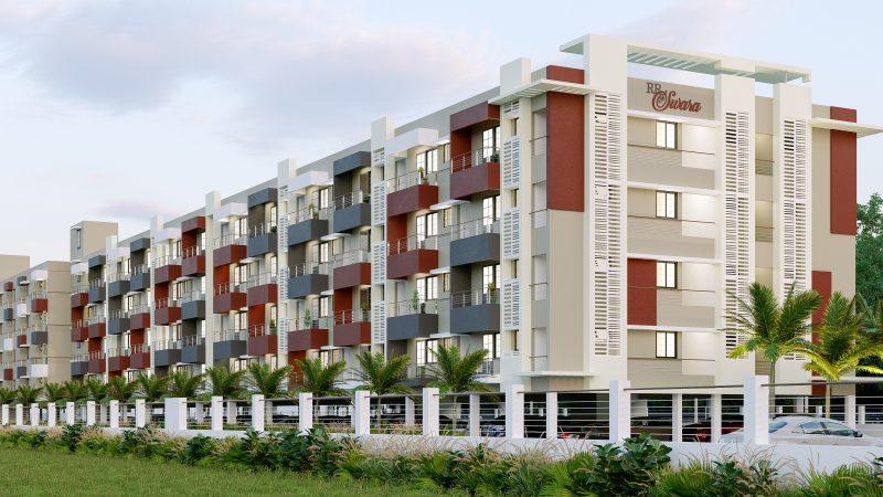 luxury apartments in saravanampatti RR Swara Side Elevation